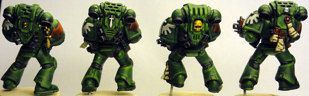 Late night painting dark angels part v tactical marines i